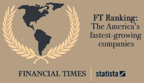 FT Ranking Logo en www.nuva.co Empresas con más rápido crecimiento en América
